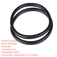 O-ring 1.5mm Wire Diameter 4.4mm-15mm OD NBR Rubber Oil Resistant Sealing Ring