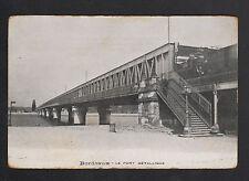 BORDEAUX (33) TRAIN sur PONT METALLIQUE début 1900