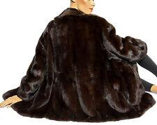 XL nerzjacke Fourrure Veste Gorille VISON mink fur jacket Café Marron Vintage Marron