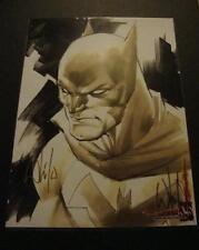 BATMAN ART PRINT SIGNED BY WHILCE PORTACIO