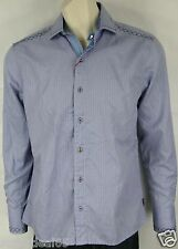 English Laundry Shirt By Christopher Wicks Garden City Blue