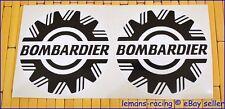 "White Sea Ski Doo Bombardier Vinyl Decals Stickers Emblems BRP x2 pieces 2,4,5"""