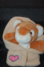 "Baby Tiger Puppet Tan  Blanket LOVE BINDI 9"" Plush Pink Heart Stuffed Animal Toy"