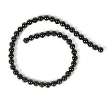 String of Black Agate 8mm Beads for Jewellery Making (T19BS)