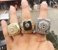(3 PCs) 1970 1972 2011 Boston Bruins Stanley Cup Championship Ring Great Gift !!