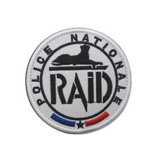 RAID POLICE NATIONALE FRANCE ARMY MILITARY MORALE Tactical HOOK PATCH  AA 1216