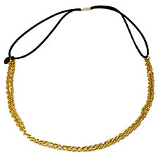 Mia Beauty Metal Chain Headwrap/Headband 2 in 1 Necklace -Gold Chain- New!!