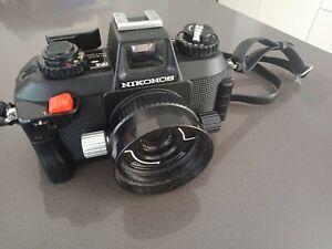 Nikon Nikonos IV-A Underwater Camera w/ 35mm f2.5 + UW 28mm f3.5 - works