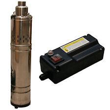 Pompe a puits profonds de À Eau 1200L/h 230V comprenant Boîtier commande