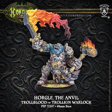 Hordes BNIB Trollblood Warlock Horgle the Anvil inc resin 71107