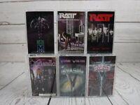 Cassette Tape Lot RATT VINNIE VINCENT INVASION QUEENSRYCHE CINDERELLA Metal x6