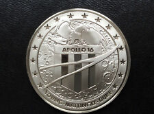 1977 Franklin Mint Apollo XVI Silver Medal Space Flight Emblems A2041