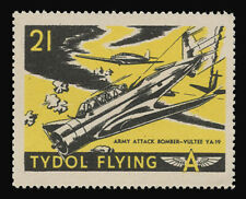 "TYDOL FLYING ""A"" POSTER STAMPS OF 1940 - #21, ARMY ATTACK BOMBER - VULTEE YA-19"
