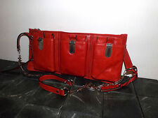 Gryson Womans Red Handbag/Spiked Chain/Leather NWT