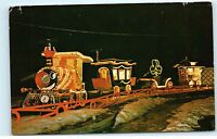 Winter Wonderland Toyland Express Train Trinkaus Manor Oriskany NY Postcard B09