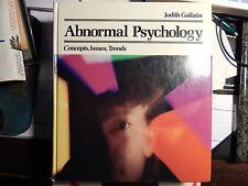 Abnormal Psychology by Judith E. Gallatin (1982, Hardcover)