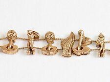 """Charm Bracelet  """"Golfer's Gear"""" ~ TOFA Classic Slider w/Bronze Tone #5430610"""