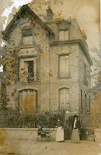MONTMORENCY Carte PHoto de la Villa Les Oeillets à la Famille Valcke en 1908