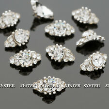 10 Pcs 3D Nail Art Decoration Bow Alloy Jewelry Glitter Rhinestone #S1024