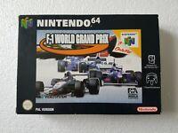 F1 World Grand Prix - Nintendo 64 N64 Game [CIB UKV PAL] Boxed with manual