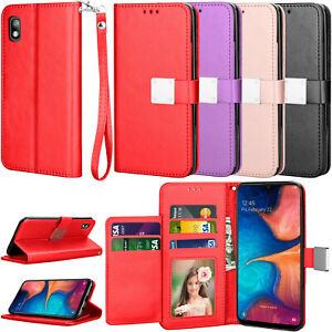 For Samsung Galaxy A10e/A02s/A12/A20/A30/A50/A52/A72 5G Phone Case Card Wallet