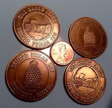 Lot 4 Yankee Pedlar Inn Holyoke Mass MA Drink(?) Tokens Chips Coins Medals MA176