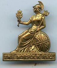 The  Norfolk Regiment Brass  Cap Badge