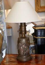 Barbedienne, Lampe à l'Antique En Bronze Patiné, époque XIX ème