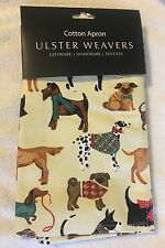 NWT Hound Dog Cotton Apron feat Pug Scottie Dalmatian Etc by Ulster Weavers