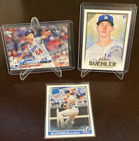 2018 Topps Walker Buehler Rookie Lot (3) Los Angeles Dodgers Donruss Panini Mint