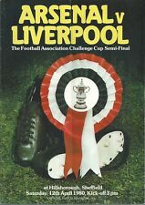 ARSENAL V LIVERPOOL F.C. F.A. CUP SEMI FINAL 1980  MATCHDAY PROGRAMME
