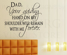 Wall Decal Sticker Quote Vinyl Lettering Decoration Dad Father Family Love F47