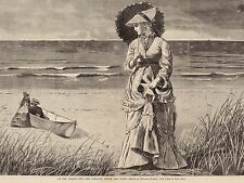WINSLOW HOMER BEACH TWO COMPANY THREE NONE OLD ART PAINTING POSTER BB4989A