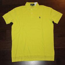$85 New POLO RALPH LAUREN New Lemon Neon Shirt Men's MEDIUM M Blue Pony Classic