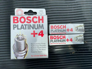 (4) Bosch (4459) HGR9DQP Spark Plugs +4