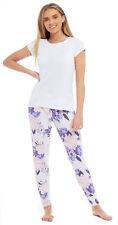 Ladies Viscose Lounge Bottoms Pyjama Summer Pants Elastane Cuffed Flared Ankles