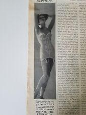 1960 women's surprise girdle bra strapless corselette vintage fashion ad