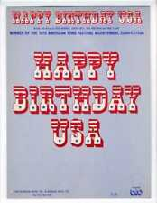 BICENTENNIAL SONG CONTEST Sheet Music 1975 Happy Birthday U S A