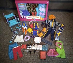 """18"""" Doll Clothing Lot 50+pieces. Fits American Girl, My Life, OG. Some new."""