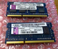 Kingston 4GB (2 x 2GB) PC3 10600 1333 DDR3 Sodimm Laptop RAM Memory 204 pin