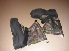 Northside Camouflage Thermolite Drawstring Snow Boots Hunting Boys sz 4