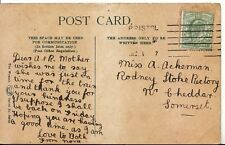 Family History Postcard - Ackerman - Cheddar - Somerset - Ref 1706A
