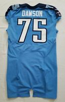 #75 Keyunta Dawson of Tennessee Titans NFL Locker Room Game Issued Jersey