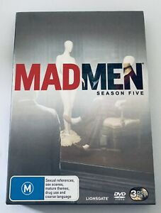 Mad Men Season 5 Five (DVD, 3-Disc Set) VGC Rated M Region 4 Aus Drama Series