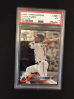2018 Topps Chrome Update Ozzie Albies Rookie PSA 9 Atlanta Braves RC