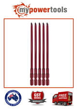 5 X COLLATED SCREWGUN PH2 X 132MM RED TIPS - FITS MAKITA DFR450 BFR450 6835