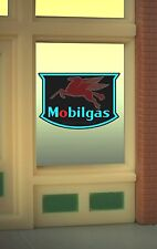 Mobile Gas  Animated Neon Window Sign MILLER ENGINEERING O/HO #9025