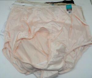 Vanity Fair Women's *9 Pack* 15712 Tailored Nylon Brief Panty Multi 10/3XL