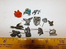 Horse Rider Canon Sporting Kiwi Wildlife 11 Pin Lot Pewter Western Hat Boot