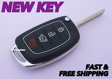 Original HYUNDAI SONATA flip keyless entry remote fob transmitter +NEW KEY BLADE